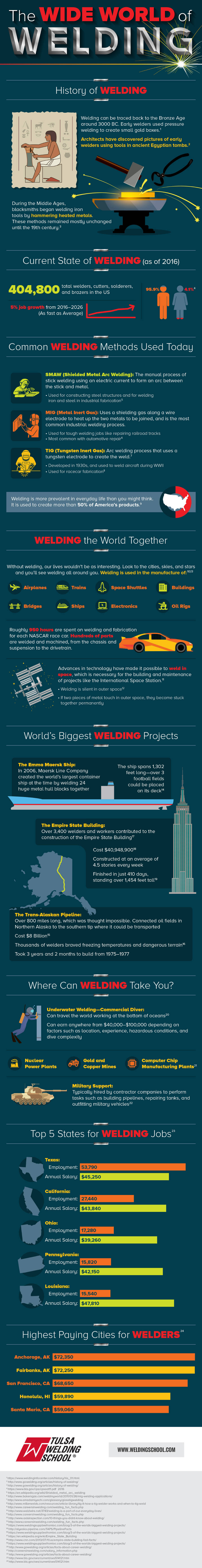 The Wide World of Welding Infographic