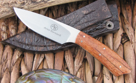Arno Bernard Knives: Bush Baby Series - Giraffe Bone, N690 steel