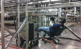 Ice blasting heat treat equipment