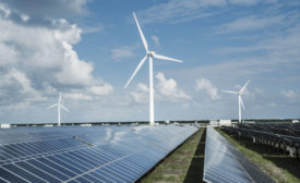 Technology and development is assisting with the growth of renewables, such as wind power and solar power, worldwide