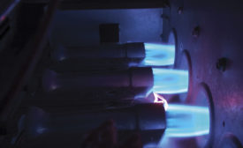 Natural gas burner efficiency