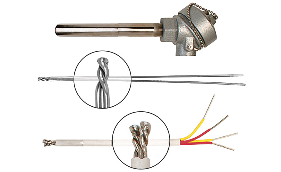 Typical high-temperature probe design