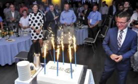 SECO/WARWICK Europe CEO Bartosz Klinowski oversees the 25th anniversary festivities