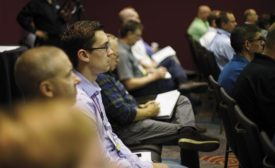 Crowd at Metal Treating Institute (MTI) Technical Standards Committee meeting