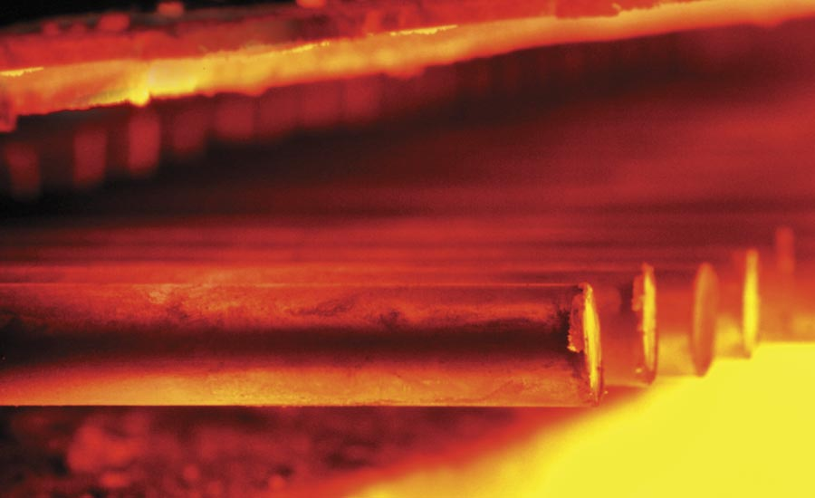 Parts Being Heat Treated at High Temperature