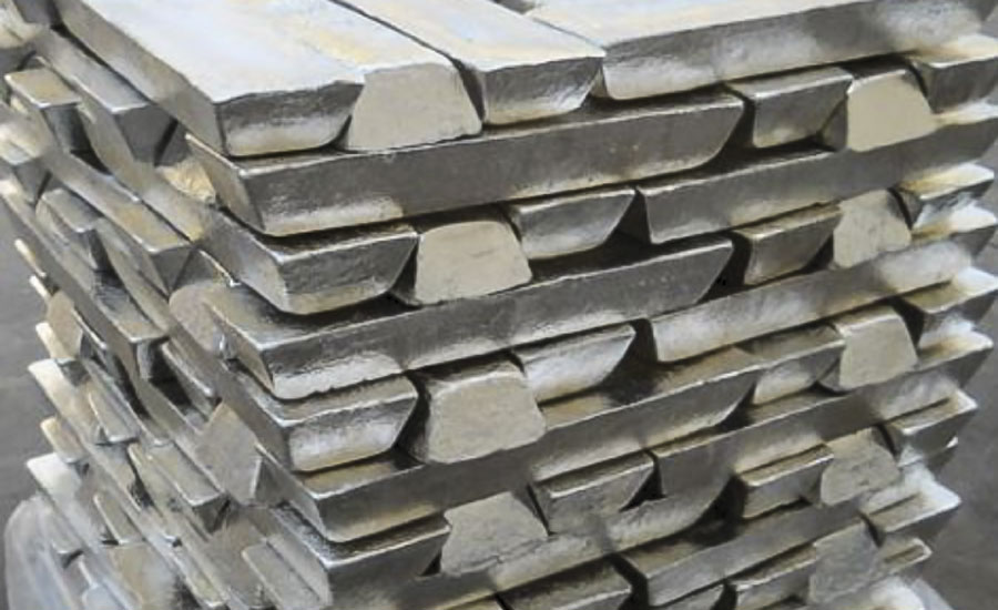 Typical load of magnesium ingots