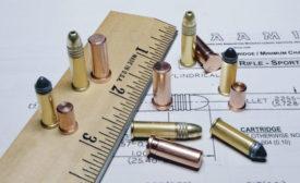 Firing-pin indent copper crushers for 22-caliber rimfire ammunition