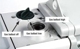Gas ballast selector switch