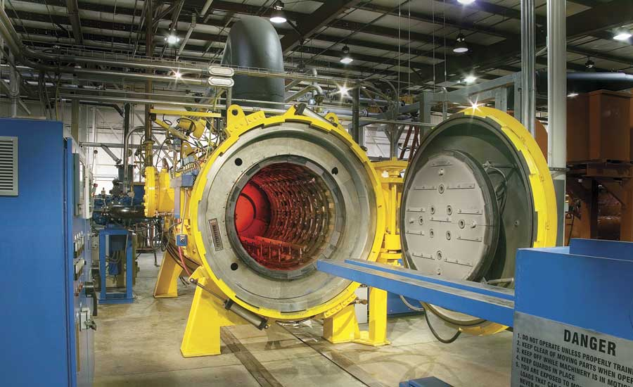 Typical high-efficiency vacuum furnace
