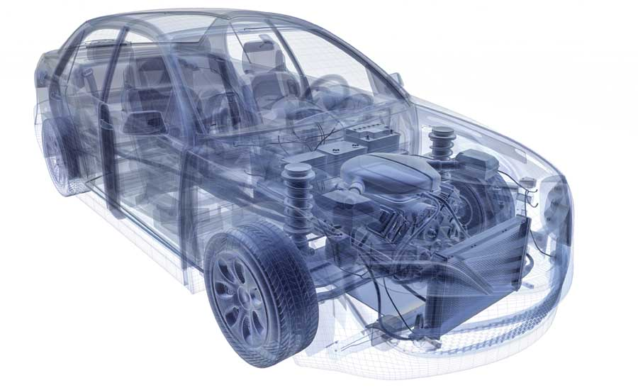 Rendering of automotive componenets