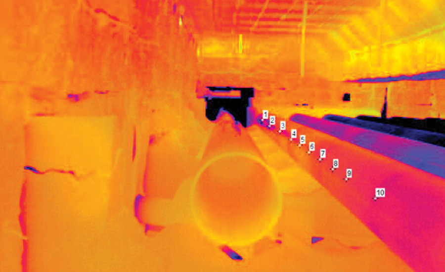 Reheat Furnace Thermal Image