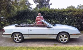 Reed Miller With His Convertible