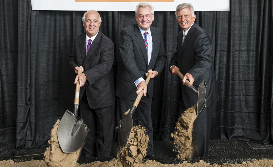 Breaking ground for Big River Steel's new steel mill