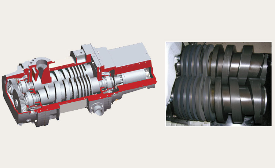 Layout of the DRYVAC screw pump