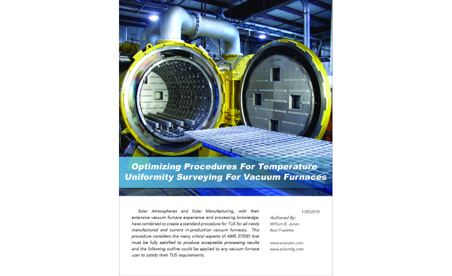 Optimizing Procedures For Temperature Uniformity Surveying For Vacuum Furnaces