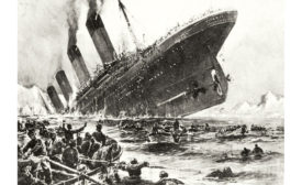 Metal failure due to brittle steel played a large part in the sinking of the Titanic