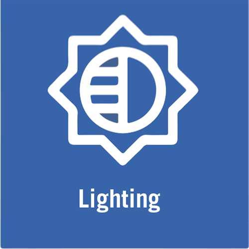 Video lighting icon.
