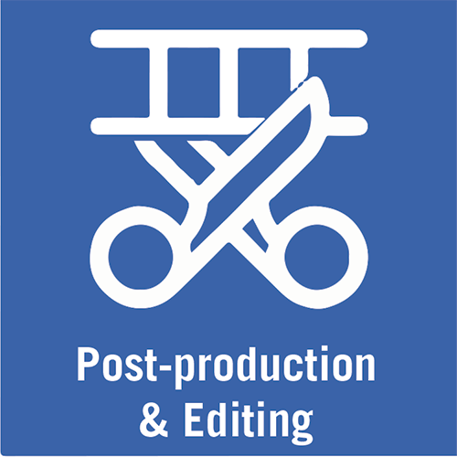 Video post-production icon.