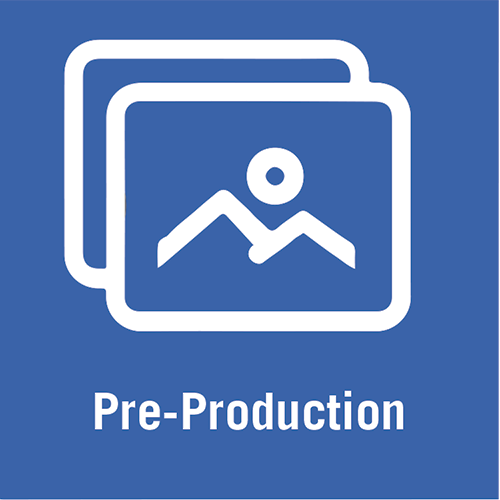 Video pre-production icon.