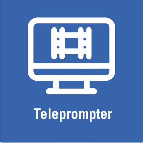 Video teleprompter icon.